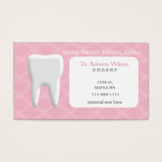 Pink Dental businesscards with appointment card