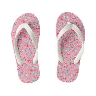 049ca9ae601679 Pink Dental Pattern Kid s Flip Flops