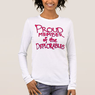 Pink Deplorables Long-Sleeve Shirt (Red Letters)