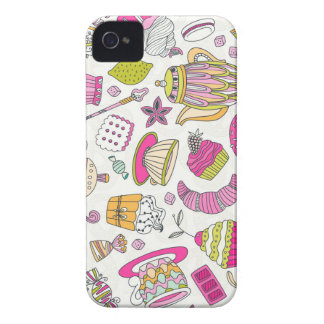 Pink Desert and Sweets Pattern Case-Mate iPhone 4 Cases