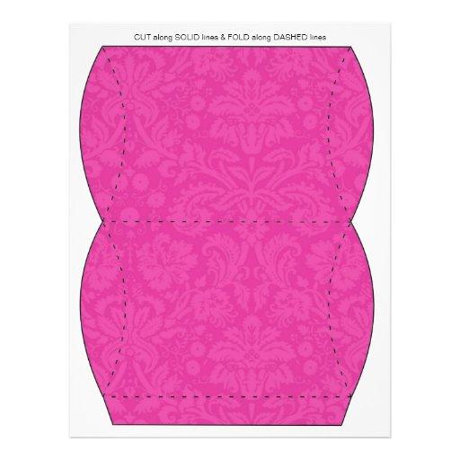 Pink Design Pillow Puff Box Template Flyer Design