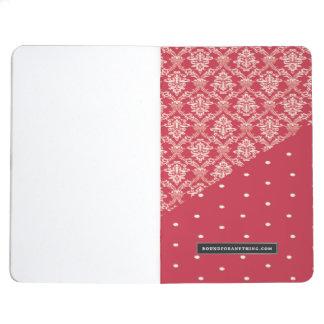 Pink designed pocket journal