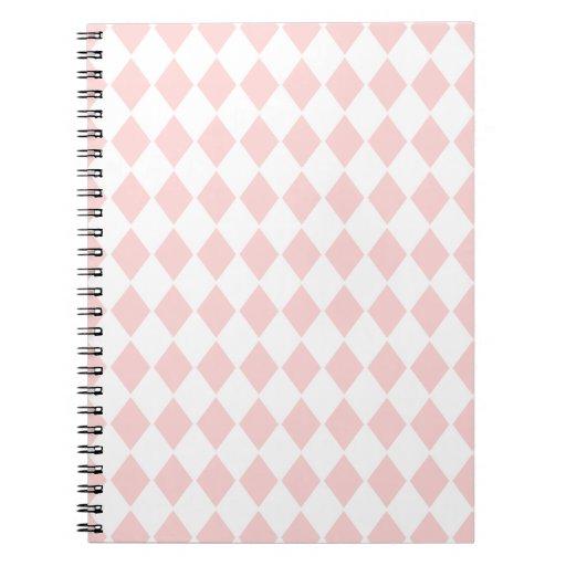 Pink Diamond Argyle Note Book Spiral Notebooks