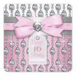 Pink Diamond Birthday Party Invite