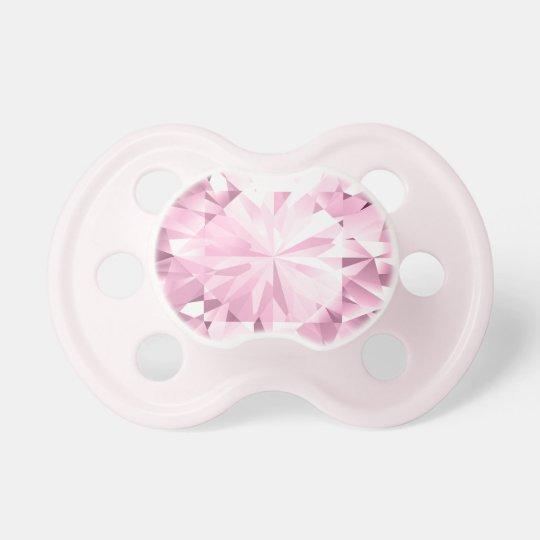 Pink Diamond Glitz Gem - Baby Girl Binky Dummy