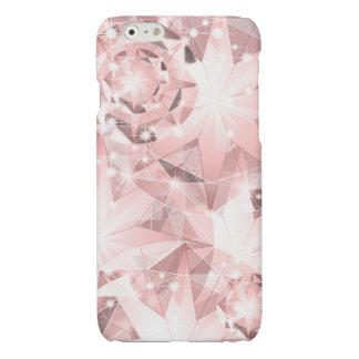 Pink Diamond Sparkle on Light Pastel Brilliant iPhone 6 Plus Case