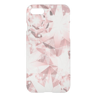Pink Diamond Sparkle on Light Pastel Brilliant iPhone 7 Case