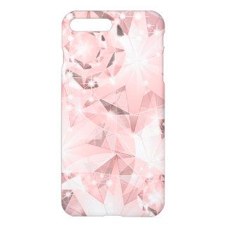 Pink Diamond Sparkle on Light Pastel Brilliant iPhone 7 Plus Case