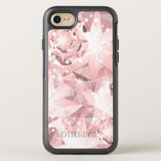 Pink Diamond Sparkle on Light Pastel Brilliant OtterBox Symmetry iPhone 7 Case
