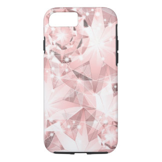 Pink Diamond Sparkle on Light Pastel iPhone 8/7 Case