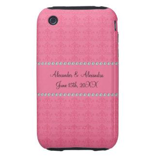 Pink diamond wedding favors iPhone 3 tough cases