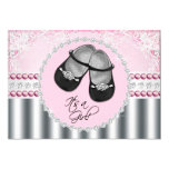 Pink Diamonds and Pearls Baby Shower Personalized Invitations