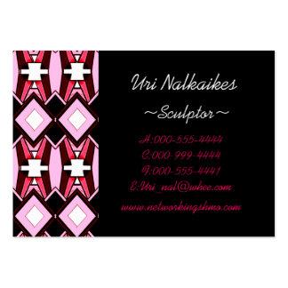 pink diamonds business card template