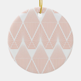 Pink diamonds christmas ornament