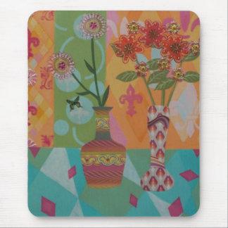Pink Diamonds Floral Mouspad Mouse Pad