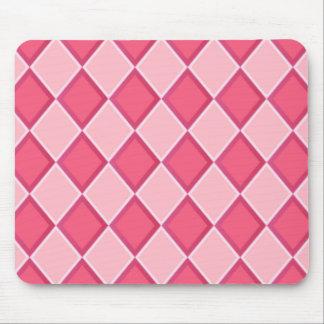Pink Diamonds Mouse Pads