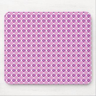 Pink Diamonds Pattern Mouse Pads