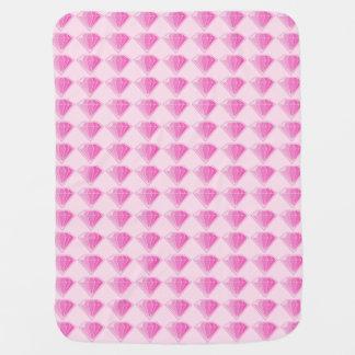 Pink Diamonds Swaddle Blanket