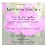 Pink Dianthus Bloom Personalized Invitations