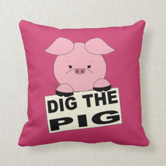 Pink Dig The Pig Pillow
