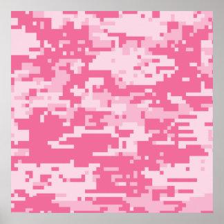 Pink Digital ACU Camoflage Pattern Posters