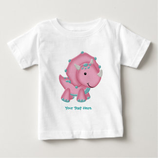 Pink Dino (customizable) Baby T-Shirt