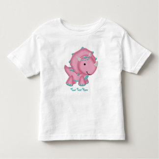 Pink Dino (customizable) Toddler T-Shirt