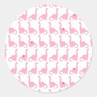 Pink Dinosaur Stickers
