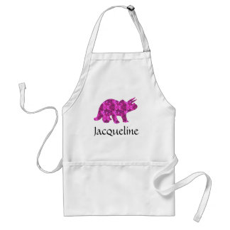 Pink Dinosaur Triceratops Apron Personalized