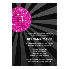Pink Disco Ball Bat Mitzvah Invitations