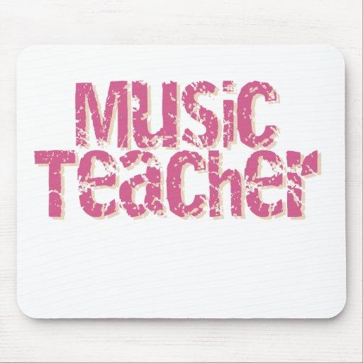 Pink Distress Text Music Teacher Mouse Pads