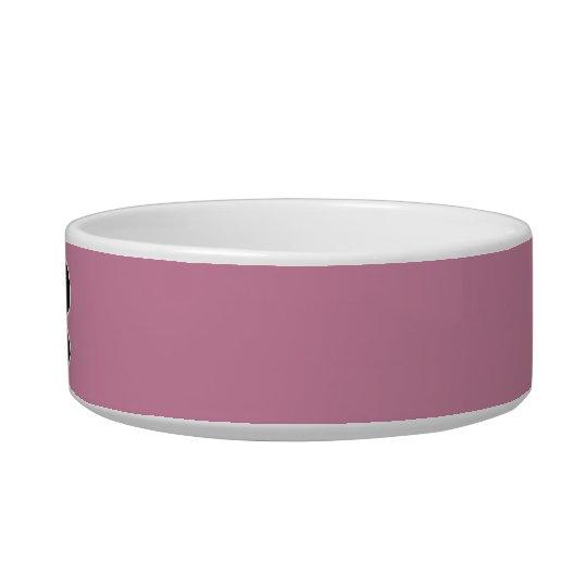 Pink Dog Bowl with Bone