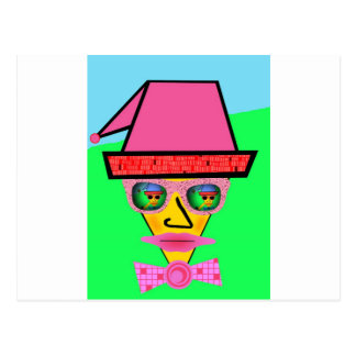 Pink Dog Humanoid Face - Add Your Text Slogan Postcard