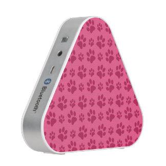 Pink dog paw print bluetooth speaker