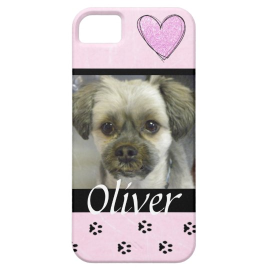 Pink Dog Photo Personalised Cell Phone Case