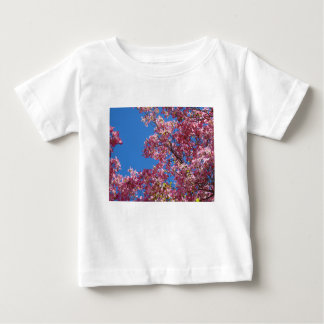 Pink Dogwood and Blue Sky Baby T-Shirt