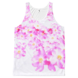 Pink Dogwood Blossom All-Over Print Tank Top