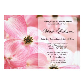Pink Dogwood Blossoms Bridal Shower Card