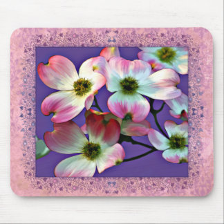 Pink Dogwood Blossoms Mouse Pads