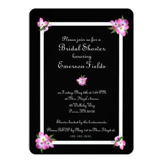 Pink Dogwood Bridal Shower Invitation