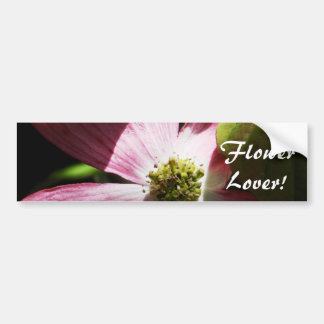 Pink Dogwood Flower Bumper Sticker