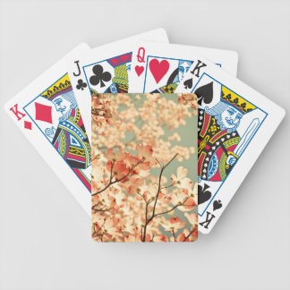 Pink Dogwood Flowers Bicycle Playing Cards