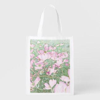Pink Dogwood Reusable Bag