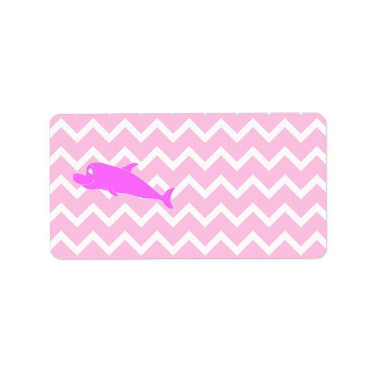 Pink Dolphin. Address Label