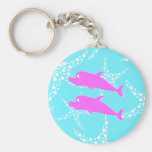 Pink Dolphins. Keychain
