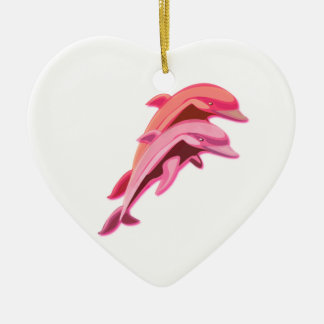 Pink Dolphins Ornament