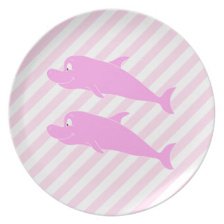 Pink Dolphins. Plate