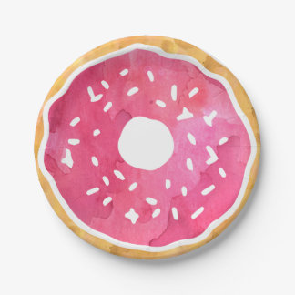 Pink Donut Paper Plates 7 Inch Paper Plate