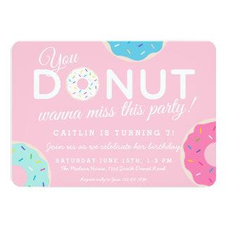 Pink Donut Party Invitation | Donut Birthday Party