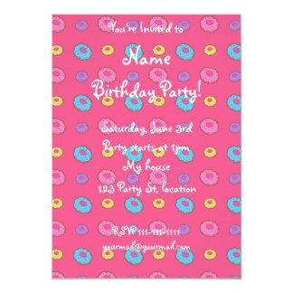 Pink donut pattern 13 cm x 18 cm invitation card